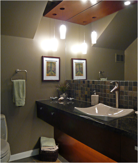 Powder Room - Home Renovations Winnipeg 80's Style Home